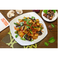 Жареные грибы с тофу